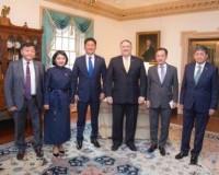 Монгол Улсын Ерөнхий сайд У.Хүрэлсүхэд төрийн нарийн бичгийн дарга М.Помбпео бараалхав