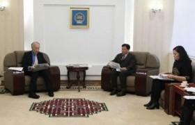 Япон Улсын Сасакава Энх тайвны сангийн Ерөнхийлөгч Н.Танакаг хүлээн авч уулзлаа
