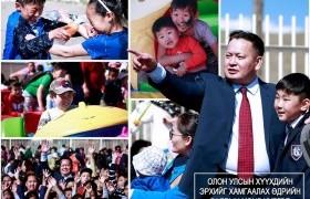 НИТХ-ын төлөөлөгч П.Баярхүү Сүхбаатар дүүргийн 17,18,19,20-р хорооны хүүхэд багачуудыг баярлууллаа