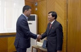Улсын Их Хурлын гишүүн А.Сүхбат Вьетнамын төлөөлөгчдийг хүлээн авч уулзлаа
