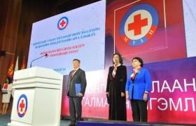 """Монголын улаан загалмай нийгэмлэгийг """"Алтан гадас"""" одонгоор шагналаа"""