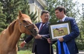 АНУ-ын батлан хамгаалахын сайд Марк Эсперэд морь бэлэглэжээ