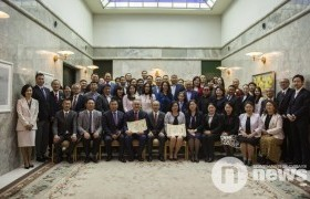 Л.Гантөмөр, Ц.Байгалмаа нарт Японы Гадаад хэргийн сайдын өргөмжлөл гардууллаа