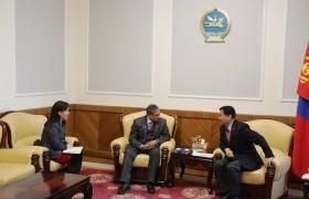 Ц.Даваасүрэн сайд Монгол Улс дахь НҮБ-ын Суурин зохицуулагч Тапан Мишраг хүлээн авч уулзлаа