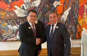 Киргиз Улсын Хөдөө аж ахуй, хүнсний үйлдвэрлэл, нөхөн сэргээлтийн сайд Эркинбек Чодуевтэй уулзлаа