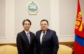 Ардчилсан намын дарга С.Эрдэнэ элчин сайд Кобаяаши Хироюкиг хүлээн авч уулзлаа