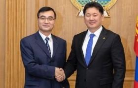 Ерөнхий сайд У.Хүрэлсүхэд БНХАУ-аас Монгол Улсад суугаа Элчин сайд Чай Вэньруй бараалхав