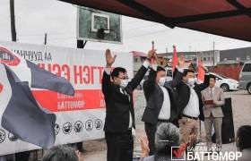 Дарханчууд  Монгол Ардын Намаас нэр дэвшигчдийг багаар нь дэмжинэ