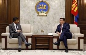 УИХ-ын дарга Г.Занданшатар АХБ-ны Монгол Улсыг хариуцсан захирал Павит Рамачандраныг хүлээн авч уулзлаа