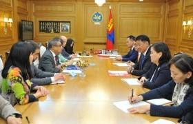 Монгол улсын Ерөнхий Сайд У.Хүрэлсүх НҮБ-ийн суурин зохицуулагчийг хүлээн авч уулзлаа