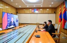 Ерөнхий сайд ОХУ-ын Аюулгүй байдлын зөвлөлийн орлогч дарга Д.А.Медведевтэй цахим уулзалт хийлээ