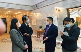 УИХ-ын гишүүн Ж.Сүхбаатар Японы элчин сайдын яаманд зохиогдож буй төсөлтэй танилцлаа