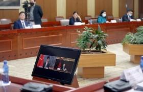 УИХ-ын дарга Г.Занданшатар БХАТИХ-ын Байнгын хорооны дарга Ли Жаньшу-тай цахим уулзалт хийлээ