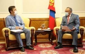 Б.Бейсен гишүүн ЕАБХАБ-ын Монгол Улсын Ерөнхийлөгчийн сонгууль ажиглах тусгай хорооны төлөөлөгчтэй уулзлаа