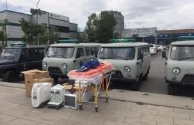 Баян-Өлгий аймгийн Нэгдсэн эмнэлэг болон зарим сумд түргэн тусламжийн автомашинтай боллоо