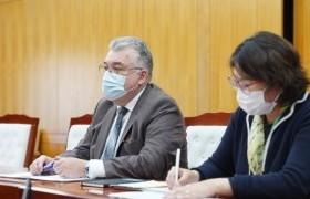 Шадар сайд С.Амарсайхан ДЭМБ-ын Монгол дахь суурин төлөөлөгч Сергей Диордицаг хүлээн авч уулзлаа