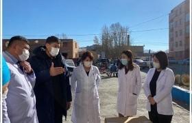 УИХ-ын гишүүн Т.Аубакир Баян-Өлгий аймгийн нэгдсэн эмнэлэгт ажиллалаа