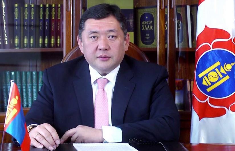 Монгол улсын их хурлын дэд дарга, Монгол Ардын Намын дарга М.Энхболдын мэндчилгээ