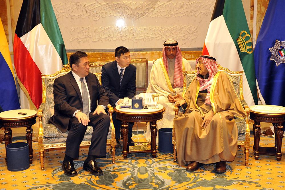 Кувейт Улсын Эрхэм дээд Эмир Монгол Улсад тусална гэж амлалаа