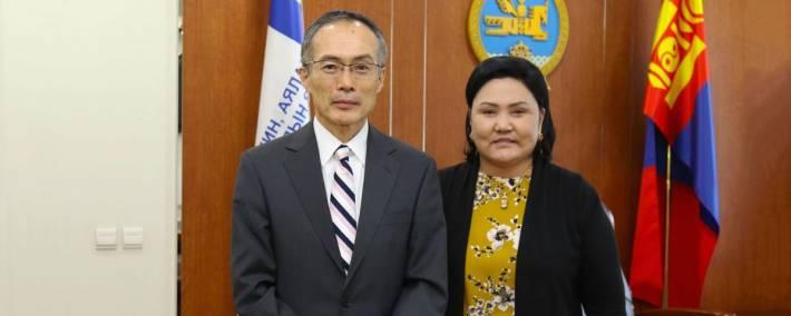 БОАЖ-ын сайд Д.Оюунхорол Элчин сайд Масато Такаокаг хүлээн авч уулзлаа