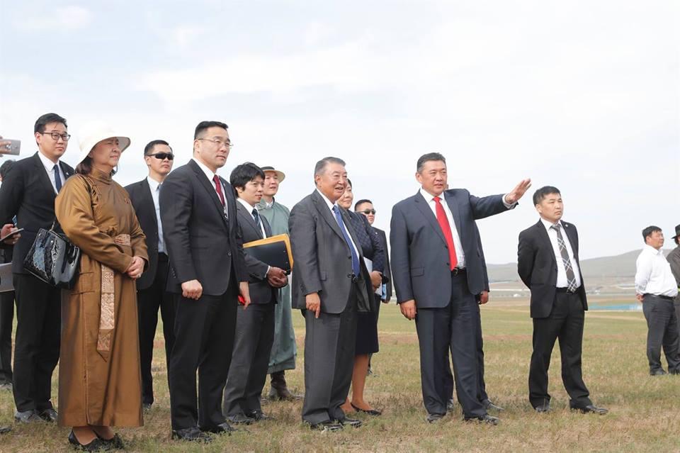 Япон Улсын парламентын Төлөөлөгчдийн танхимын дарга ноён Т.Оошима болон холбогдох албаны төлөөлөгчдөд зориулсан монгол үндэсний бэсрэг наадам боллоо