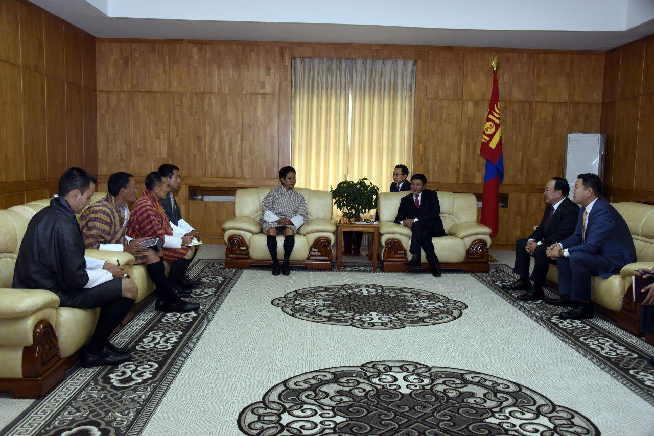УИХ-ын дэд дарга Ц.Нямдорж Бутаны Вант Улсын Гадаад хэргийн сайд Дамчо Доржийг хүлээн авч уулзлаа