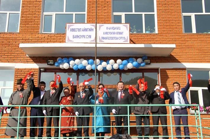 Хөвсгөл аймгийн Баянзүрх сумын сургуулийн шинэ барилга ашиглалтанд орлоо