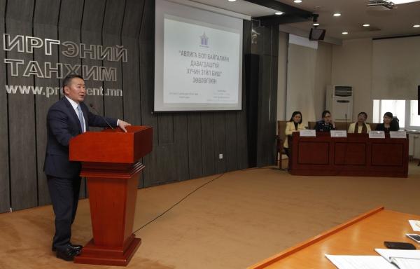 Монгол Улсын Ерөнхийлөгч Х.Баттулга: Авлигыг илчлэх, авлигын гэрч, мэдээлэгч, шүгэл үлээгч, хохирогчийг хамгаалахад дэмжин ажиллана