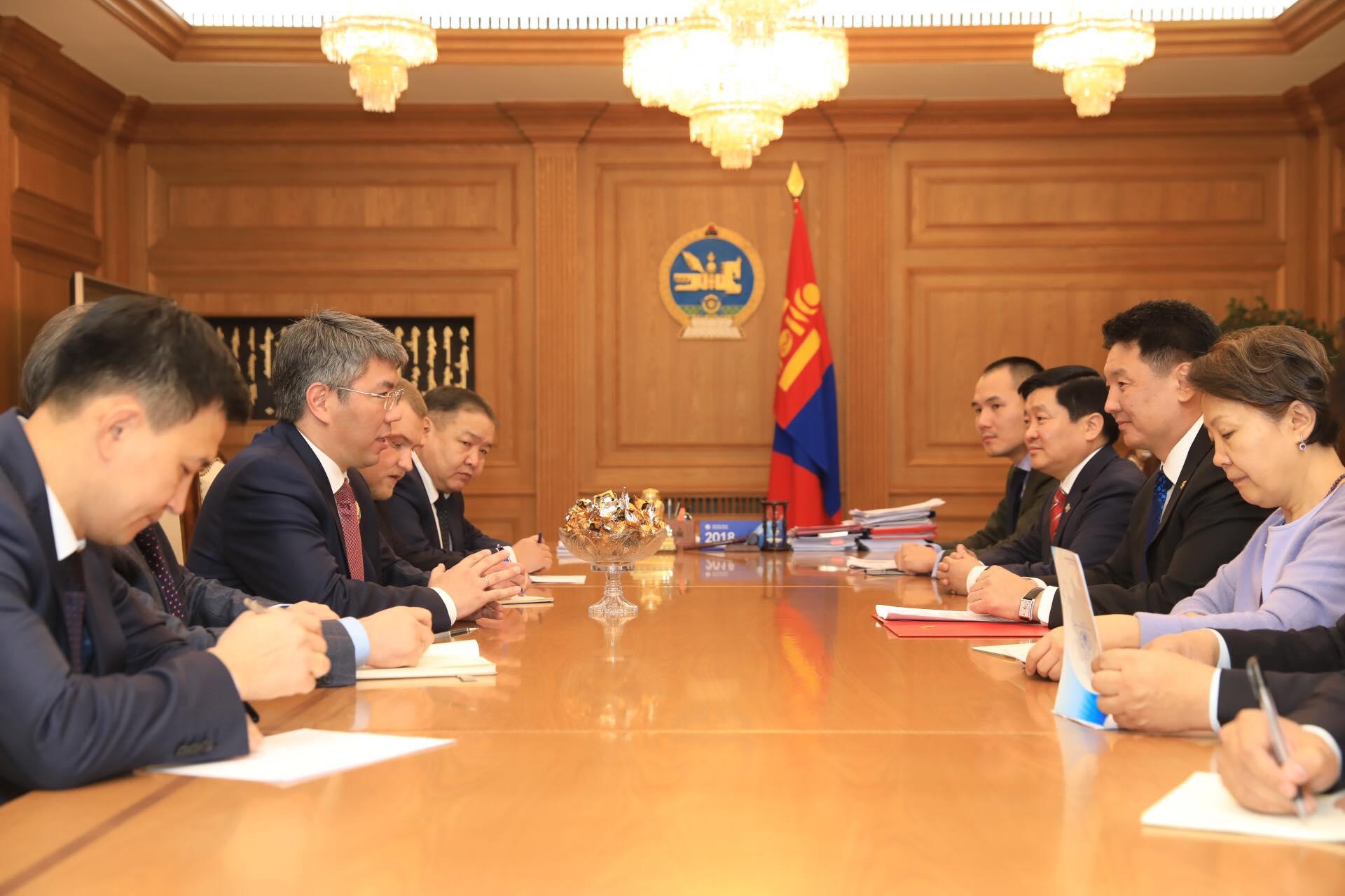 Ерөнхий сайд У.Хүрэлсүх Буриад улсын тэргүүн Цыденов Алексей Самбуевичийг хүлээн авч уулзлаа
