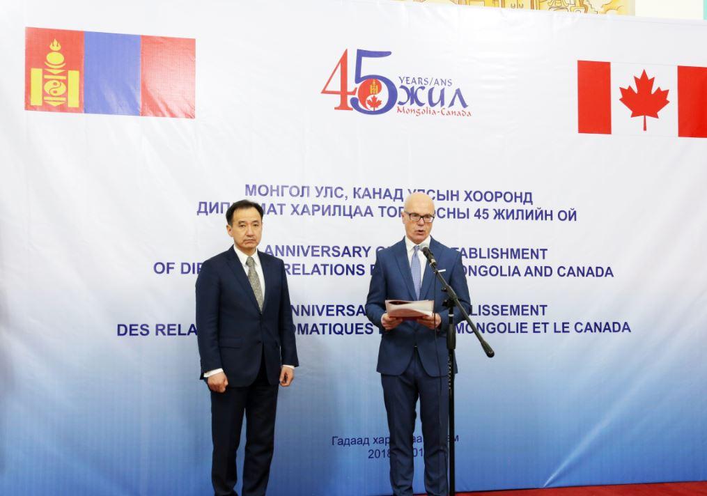 Монгол, Канадын хооронд дипломат харилцаа тогтоосны 45 жилийн ойн нээлт болов