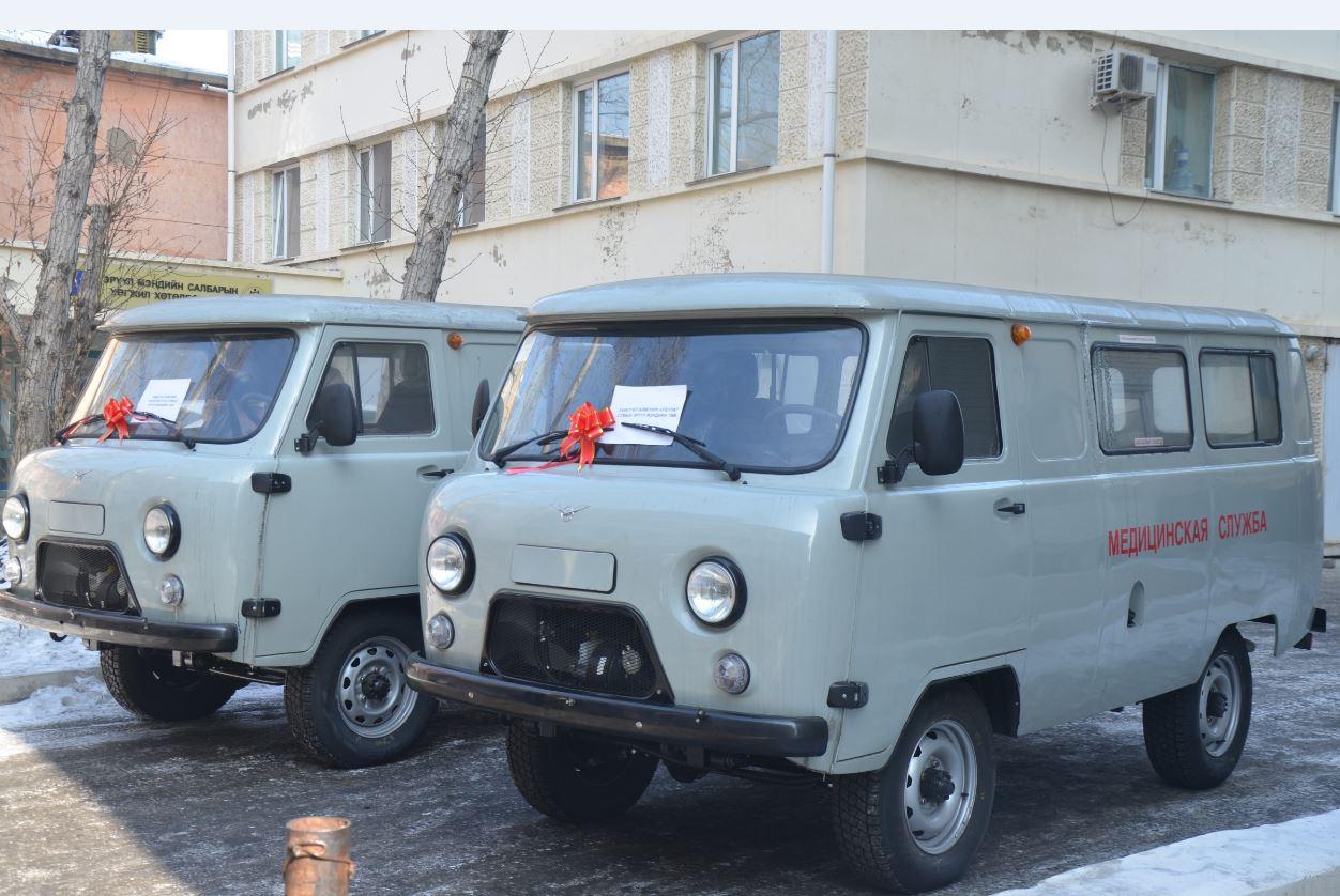 Хөвсгөл аймгийн 2 суманд түргэн тусламжийн автомашин гардуулж өглөө