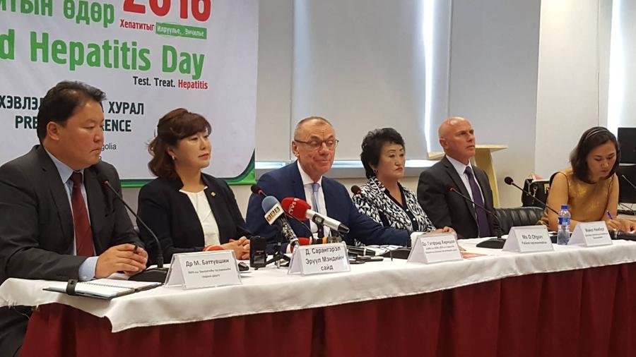 """ДЭМБ, Монгол Улстай хамтран """"Дэлхийн хепатитын өдөр""""-ийг тэмдэглэж байна"""