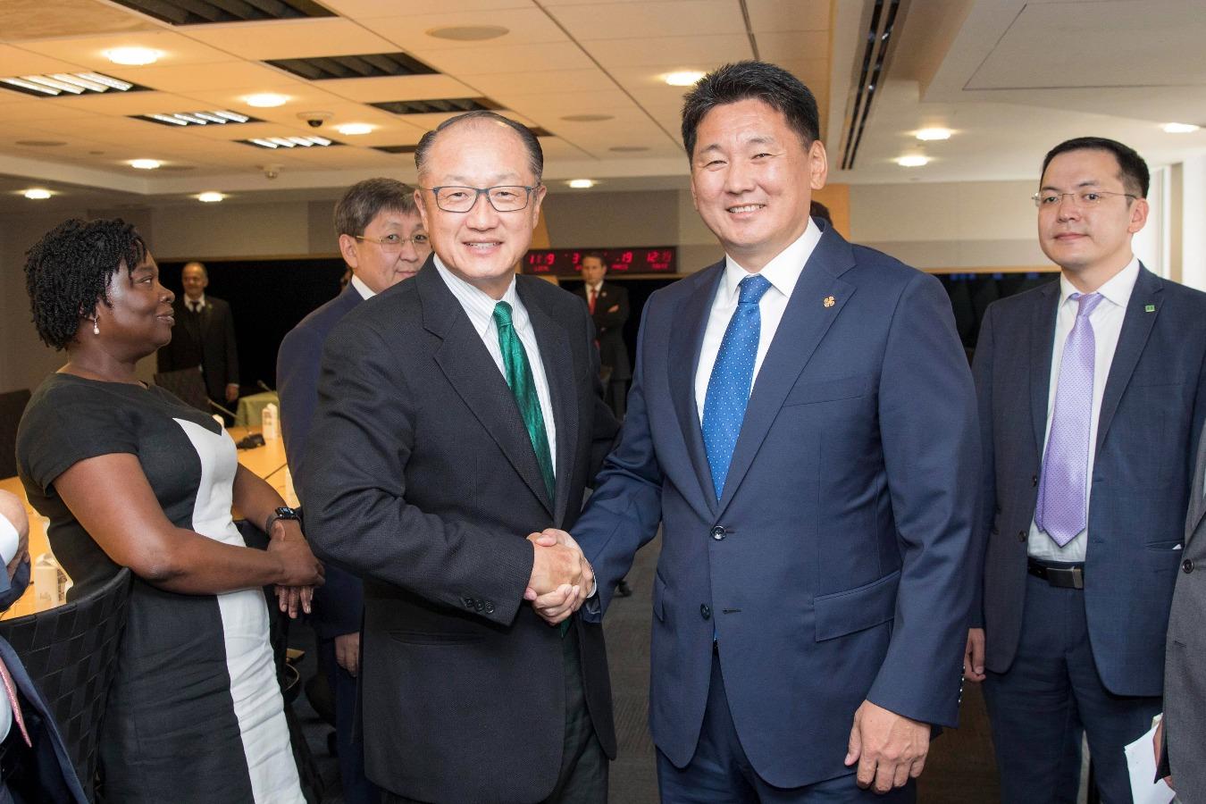 Монгол Улсын Ерөнхий сайд Дэлхийн банкны Ерөнхийлөгчтэй уулзав