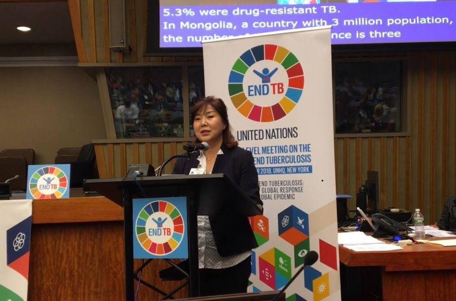 Эрүүл мэндийн сайд сүрьеэгийн асуудлаарх НҮБ-ын өндөр түвшний уулзалтад үг хэлэв