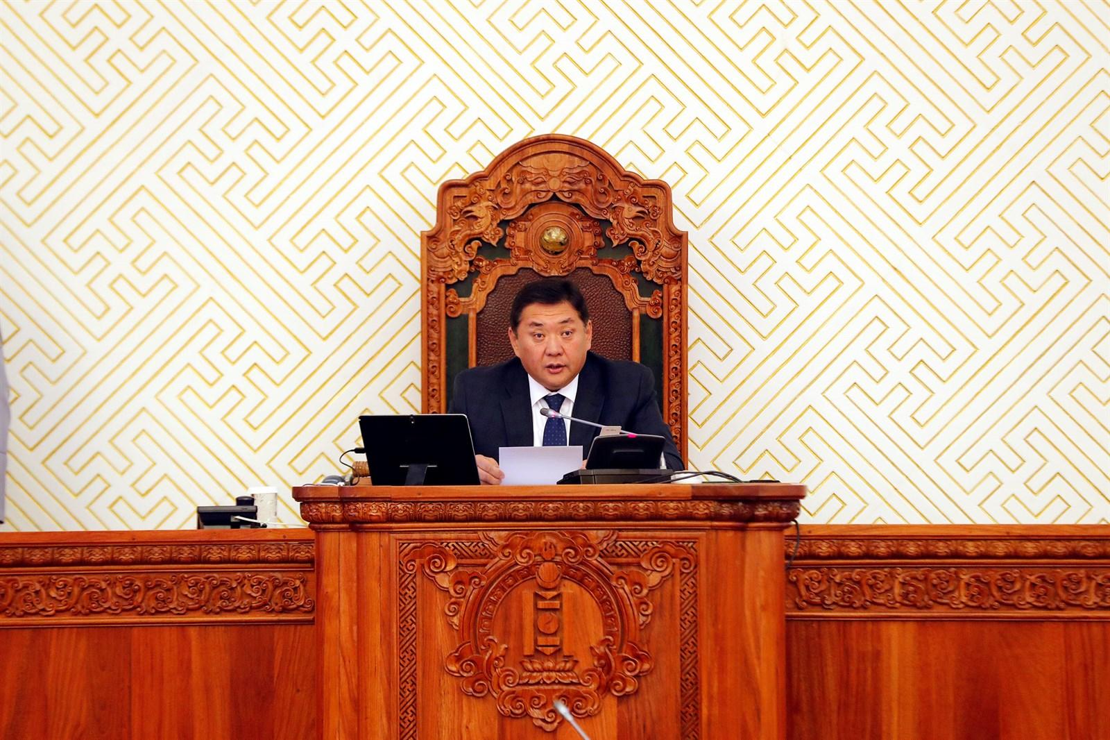 Улсын Их Хурлын 2018 оны намрын ээлжит чуулганыг нээж Монгол Улсын Их Хурлын дарга М.Энхболдын хэлсэн үг