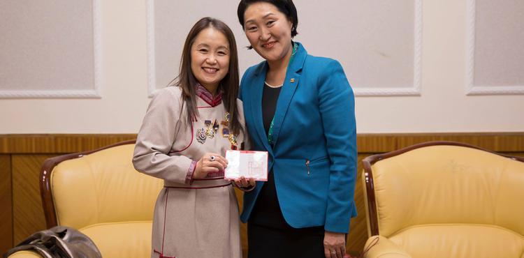 НҮБ-ын Хүн амын сангийн Монгол дахь суурин төлөөлөгчийг хүлээн авч уулзлаа