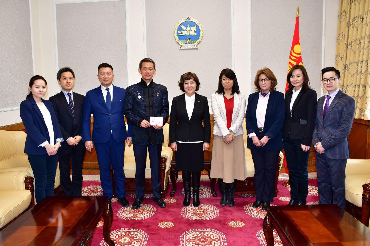 Эрүүл мэндийн сайд Д.Сарангэрэл ЖАЙКА-ийн Монгол дахь төлөөлөгчийн газрын дарга Сато Мүцүми-г хүлээн авч уулзав