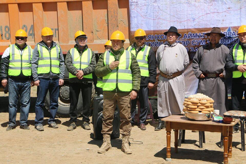 Баянхонгор-Говь-Алтай чиглэлийн авто замын барилгын ажил эхэллээ