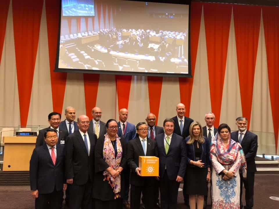 """Эрчим хүчний сайд Ц. Даваасүрэн НҮБ-ын """"Бүх нийтийг тогтвортой эрчим хүчээр хангах хуралд оролцлоо"""