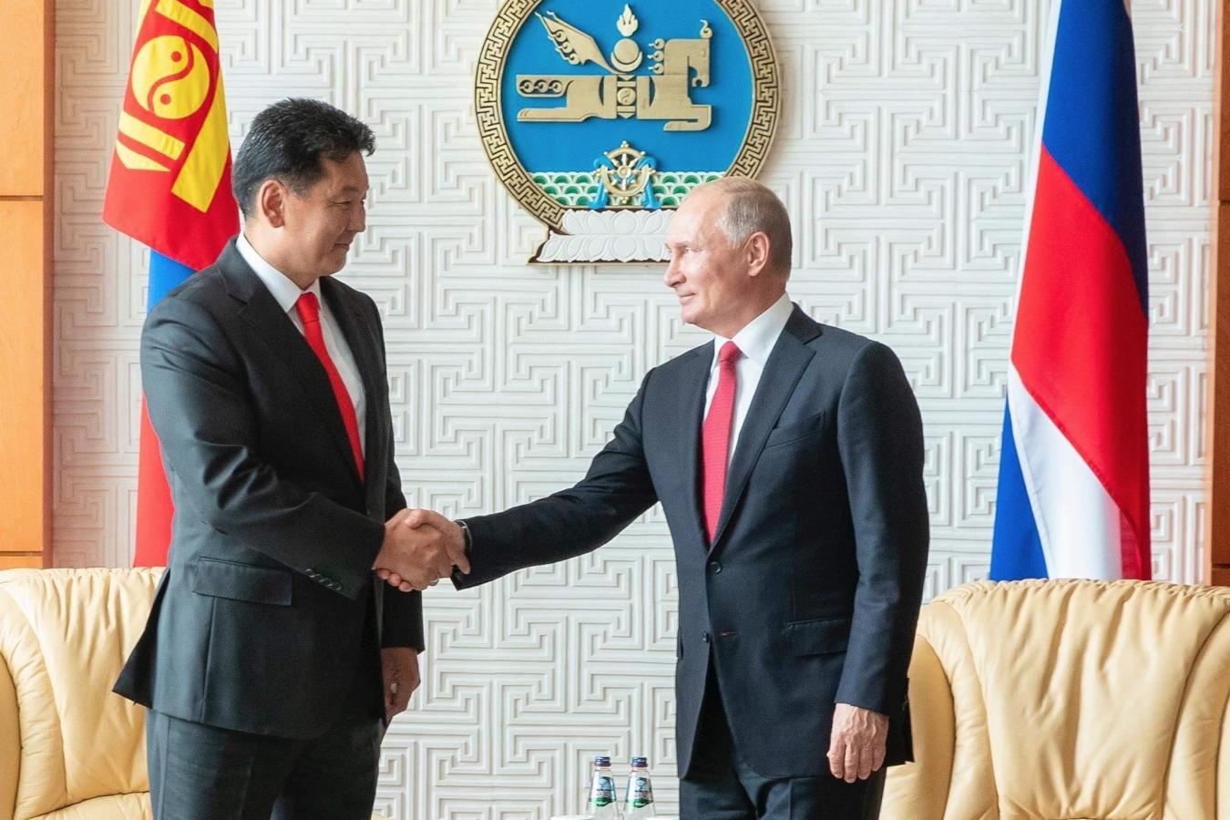 Монгол Улсын Ерөнхий сайд У.Хүрэлсүх Оросын Холбооны Улсын ерөнхийлөгч В.В.Путинд бараалхав