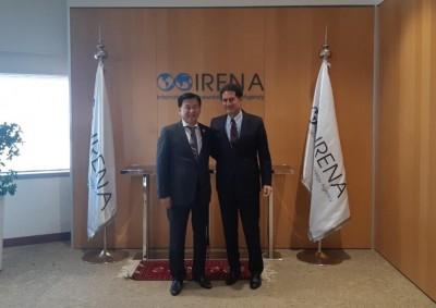 Олон Улсын Сэргээгдэх Эрчим хүчний агентлаг Монгол Улсын Эрчим хүчний яамтай хамтран ажиллана