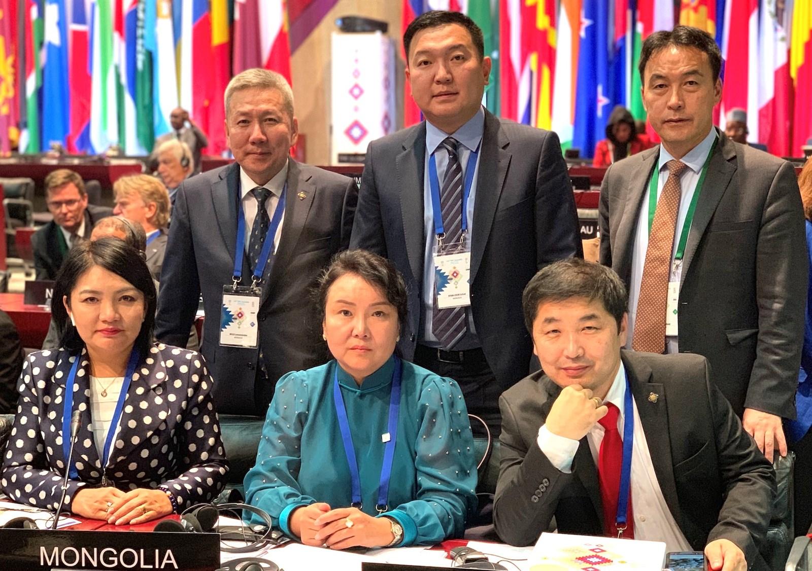 Монгол Улсын Их Хурлын төлөөлөгчид ОУПХ-ны 141 дүгээр ассамблейд оролцов