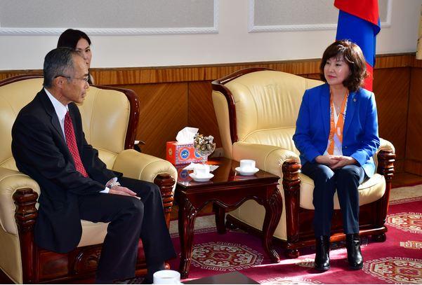 Япон Улсаас Монгол Улсад суугаа Элчин сайд Такаока Масато-г хүлээн авч уулзлаа