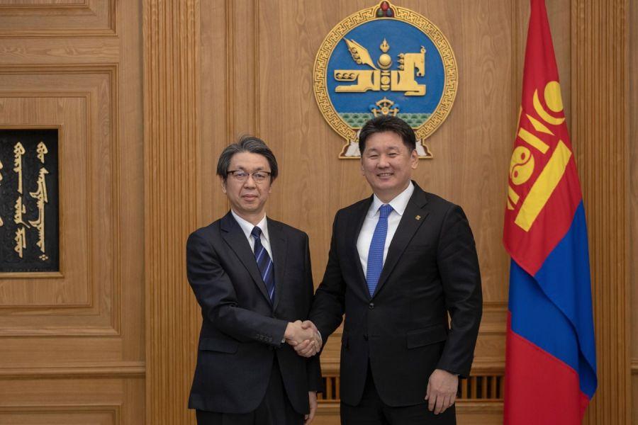 Ерөнхий сайд У.Хүрэлсүх Японы Элчин сайд Кобаяши Хироюкиг хүлээн авч уулзав