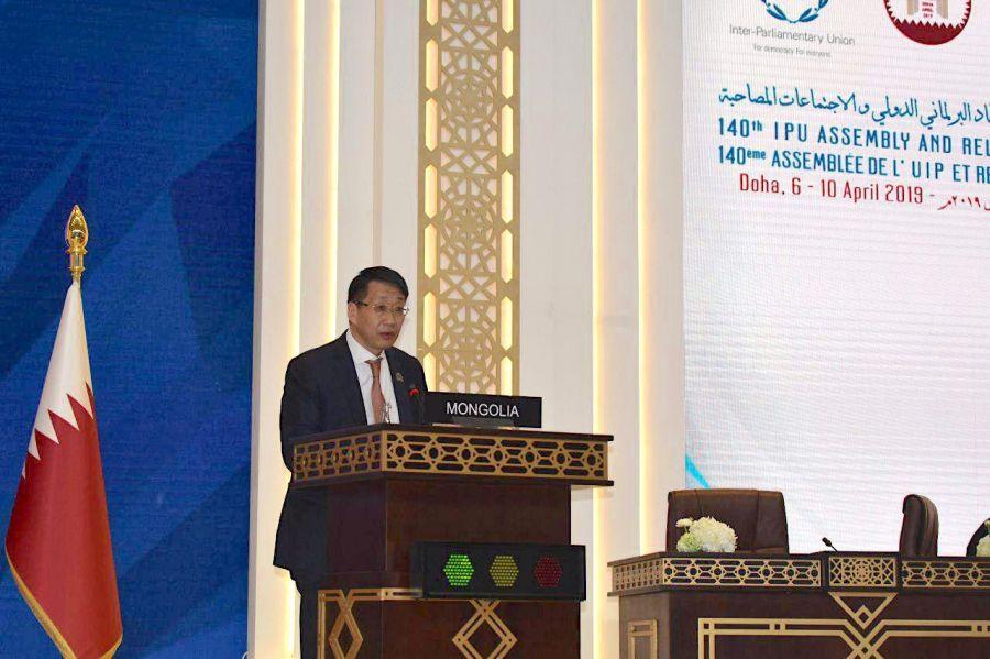 Л.Энх-Амгалан тэргүүтэй төлөөлөгчид Катар Улсын Доха хотноо болж буй ОУПХ-ны 140 дүгээр чуулганд оролцож байна