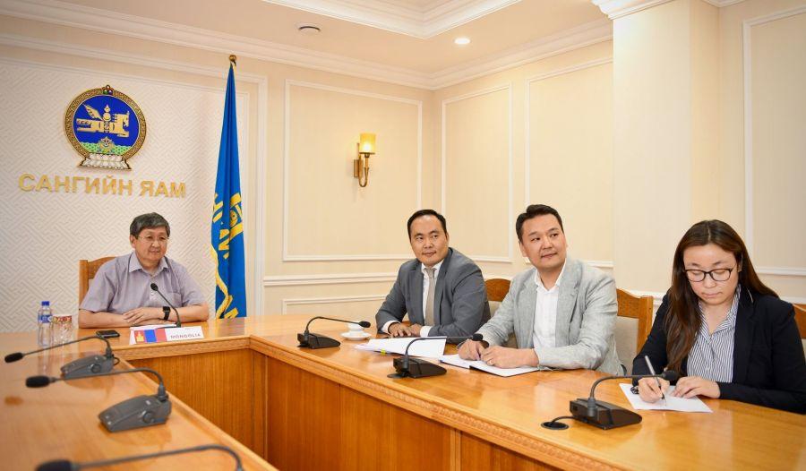 Азийн Дэд бүтцийн хөрөнгө оруулалтын банкны цахим уулзалтад Сангийн сайд Ч.Хүрэлбаатар оролцлоо