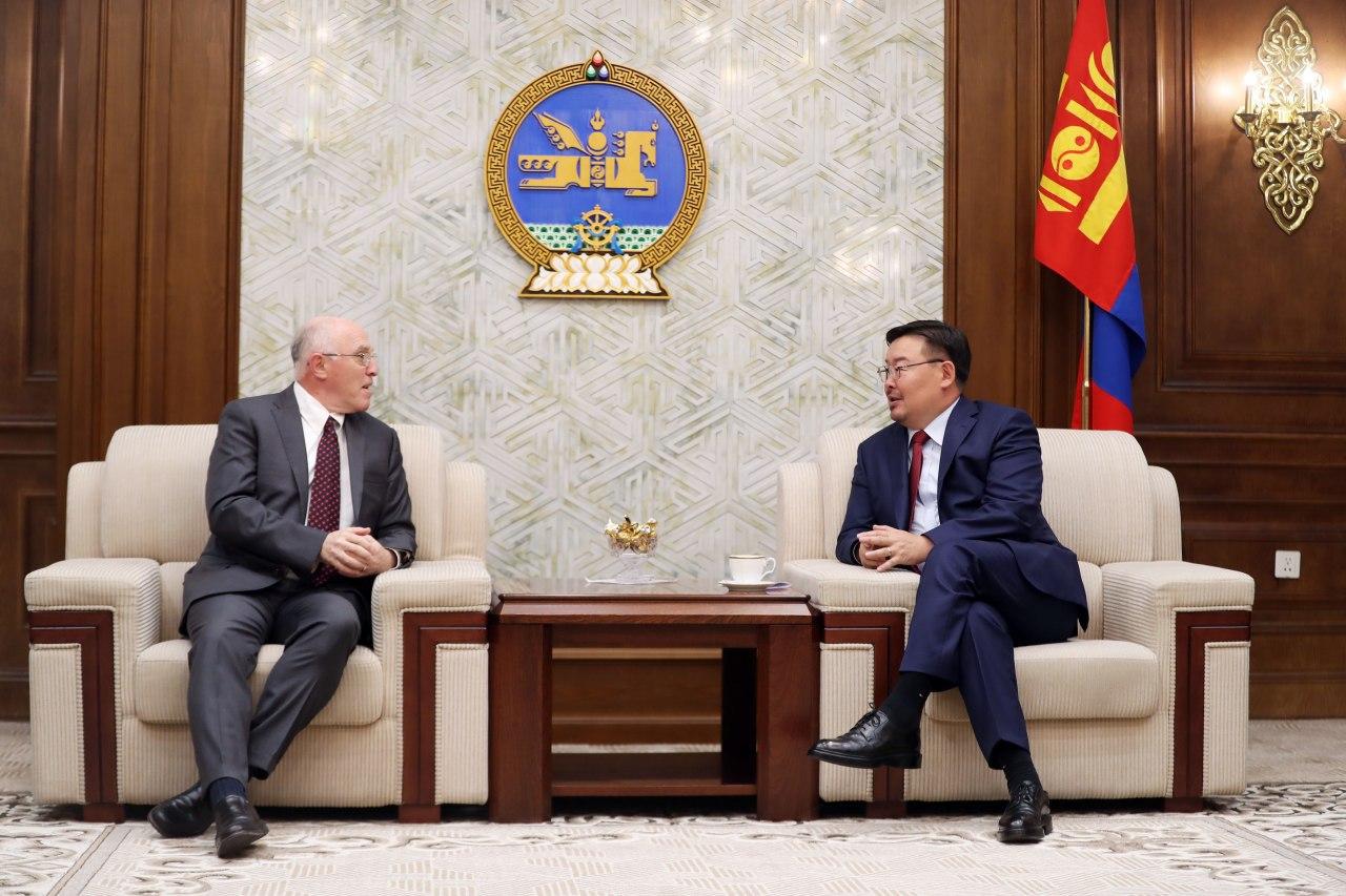 УИХ-ын дарга Г.Занданшатар АНУ-аас Монгол Улсад суугаа элчин сайд М.Клеческийг хүлээн авч уулзлаа
