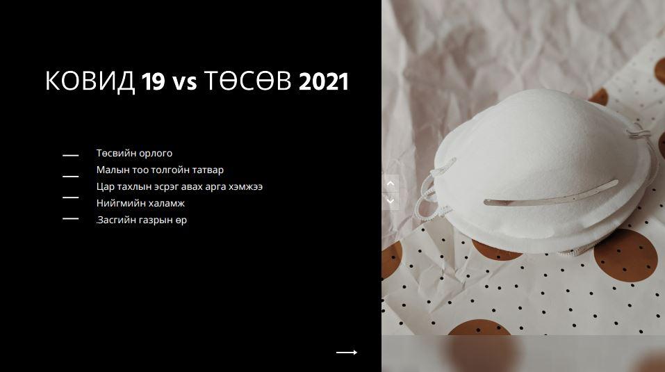 Ковид-19 vs Төсөв-2021