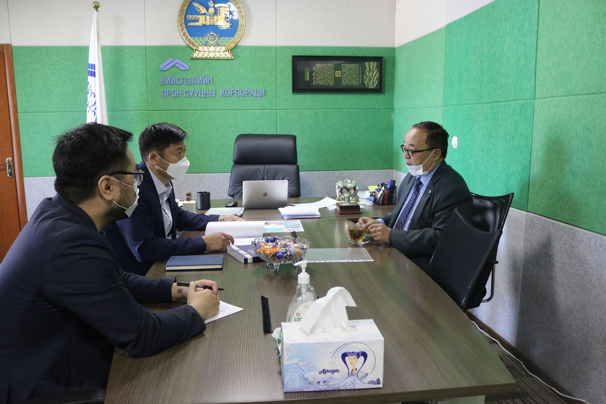 НОСК ХК-ийн удирдлагууд Монголын барилгачдын нэгдсэн холбооны Ерөнхийлөгчтэй хамтран ажиллах талаар уулзалт зохион байгууллаа