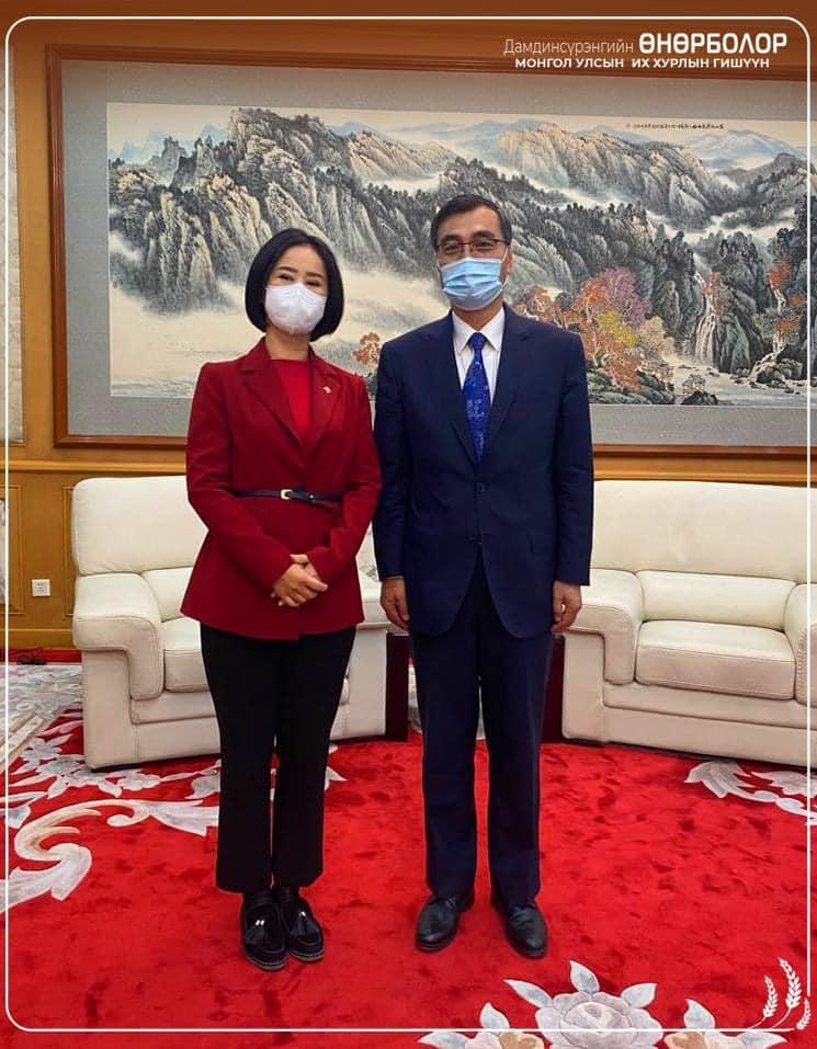 БНХАУ-аас Монгол Улсад суугаа Элчин сайд Цай Вэньруй хүлээн авч уулзлаа